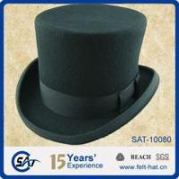 Buy cheap Men's felt hats BLACK MENS 100% WOOL FELT TOP HAT from wholesalers