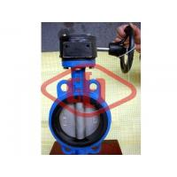 Buy cheap DI worm gear wafer butterfly valve from wholesalers