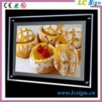 Buy cheap ceiling light frame A4 acrylic led hanging real estate led light box from wholesalers