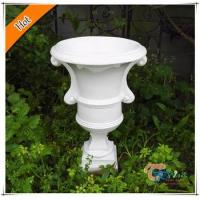 Buy cheap White Polyresin Trophy Indoor/Outdoor Decoration Antique Flower Vase from wholesalers