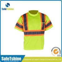Buy cheap Factory best quality high Visibility breathable OEM service safety t-shirt from wholesalers