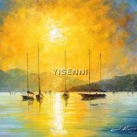 Buy cheap Landscape oil painting YISENNI handmade seascape abstract oil painting on canvas from wholesalers