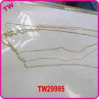 Fashion pearl necklace designs small long necklace for lady