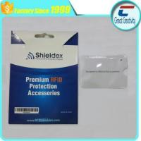Buy cheap Aluminum foil paper card holder RFID blocking sleeve from wholesalers