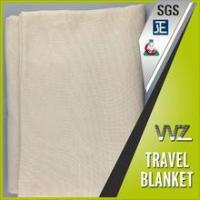 China Modacrylic and polyester blend material woven soild color travel blanket bus blanket on sale