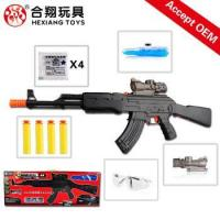 Buy cheap HXS801 2016 Electric plastic kid mini air soft sniper wholesale soft bullet gun toy from wholesalers