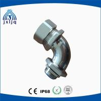 Buy cheap 90 Degree Elbow Metal Flexible Conduit Fittings brass nickel plated material product