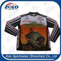 Buy cheap Custom Sublimated Quick Dry Fishing Shirts With 1/4 Zipper from wholesalers