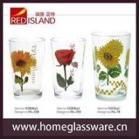 Buy cheap 2015 new design drinking glass cup with screen printing from wholesalers