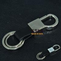 Buy cheap Custom keychain and custom metal keychain and leather keychain with 2 rings from wholesalers