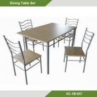 Buy cheap Cheap fashion square MDF dining room table and chair set from wholesalers