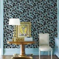 Buy cheap Modern design decorative pattern home flocking wallpaper for room decoration from wholesalers