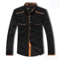 Buy cheap latest design slim fit good quality men casual shirt from wholesalers