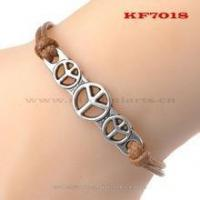 Buy cheap colorful leather cord bracelet leather bracelet with alloy buckle leather braclelets Wholesale from wholesalers