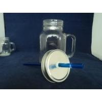 Buy cheap straw lid glass jar mason glass jar product