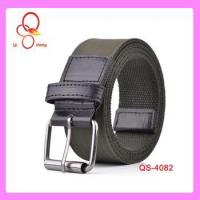 Buy cheap 2014 Factory offer 3.8cm Wide designer striped canvas belts mens military canvas Metal Belt from wholesalers