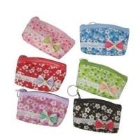 Buy cheap Fashion Flower Printing Bow knot Fabric Coin Bags from wholesalers
