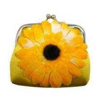 Buy cheap Yellow Cheap Flower Satin Cash Purse from wholesalers