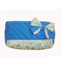 Blue Fabric Quilted Promotional Cute Wallet