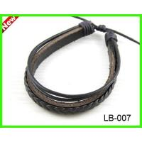 Buy cheap LB-007 leather hemp bracelet from wholesalers