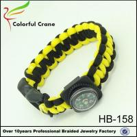 Buy cheap HB-158 Compass Paracord Survival Bracelet with Buckle from wholesalers