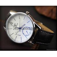 Buy cheap Fashion Stainless Steel Leather Men's Military Sport Analog Quartz Wrist Watch from wholesalers