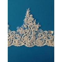 Buy cheap Hot Sell 100 Polyester Ivory Bridal Lace Trim Wholesale Made In China from wholesalers