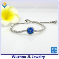 Buy cheap Luxury Sterling Silver CZ And Opal Evil Eye Bracelet Jewelry from wholesalers
