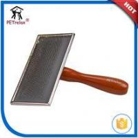 Buy cheap Wood handle Brush wooden stainless steel soft dog slicker brush from wholesalers