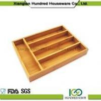 Buy cheap Cheap price 5 Divider Kitchen Drawer Bamboo Cutlery Tray from wholesalers