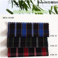 Buy cheap Stock fabric Check design Natural Wrinkle-free Fabric fabric for designing clothing from wholesalers