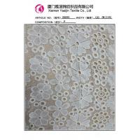 Buy cheap Chemical Lace Fabric Ivory Polyester Embroidered Lace Fabric By The Yard (S8093) from wholesalers