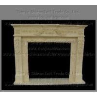 Buy cheap Egyptian Beige Flower Carving Marble Fireplace (1156) from wholesalers