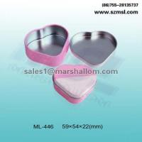Buy cheap Tin box for food heart shape candy box ML-446 from wholesalers