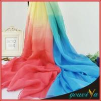 Buy cheap Gradient Color Infinity Chiffon Shawl from wholesalers