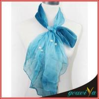 Buy cheap Pearl Accessories Chiffon Bule Scarf from wholesalers