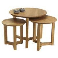 Buy cheap Solid oak wood round coffee table from wholesalers