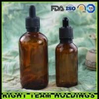 Buy cheap New Product 60ml 120ml amber glass oil bottle with childproof tamper evident cap product