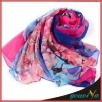 Buy cheap Scarf In Stock Of Soft New Digital Printed Chiffon Scarves from wholesalers