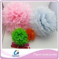 Buy cheap Wedding decoration paper pom poms from wholesalers