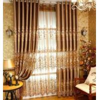Buy cheap Furniture & Textile Embroidery high quality luxury ivory brown curtain from wholesalers