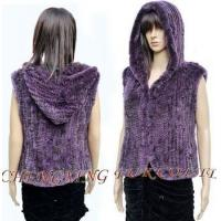 Buy cheap CX-G-B-06 2015 Hoodies Knitted Rex Rabbit Fur Vest from wholesalers