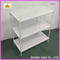 Buy cheap New design bathroom accessories Metal material Triple Tiers durable corner shelf product