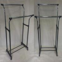 Buy cheap Newest telescopic chrome plastic cloth rack from wholesalers