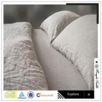 Buy cheap 100% pure linen ruffle style dew color bed set bed sheet duvet cover cushion from wholesalers