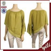 Buy cheap 2016 Bat sleeve summer fashion cutting design o neck lady blouse from wholesalers