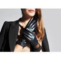 Buy cheap Fashion Warm Leather Winter Gloves / Sheep Leather Gloves for Touch Screen Phones from wholesalers