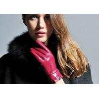 Buy cheap Leather Bowknot Cuff Fashion Short Women's Leather Gloves , Ladies' Leather Glove product