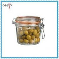 Buy cheap glass mason jar with clip lid caps water tight jars glass product