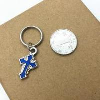 Buy cheap Keychain Blue Cross Small Gift Items, Small Attractive Indian Gift Items from wholesalers
